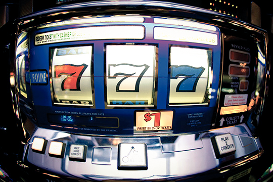 A winning reel combination on a slot machine.
