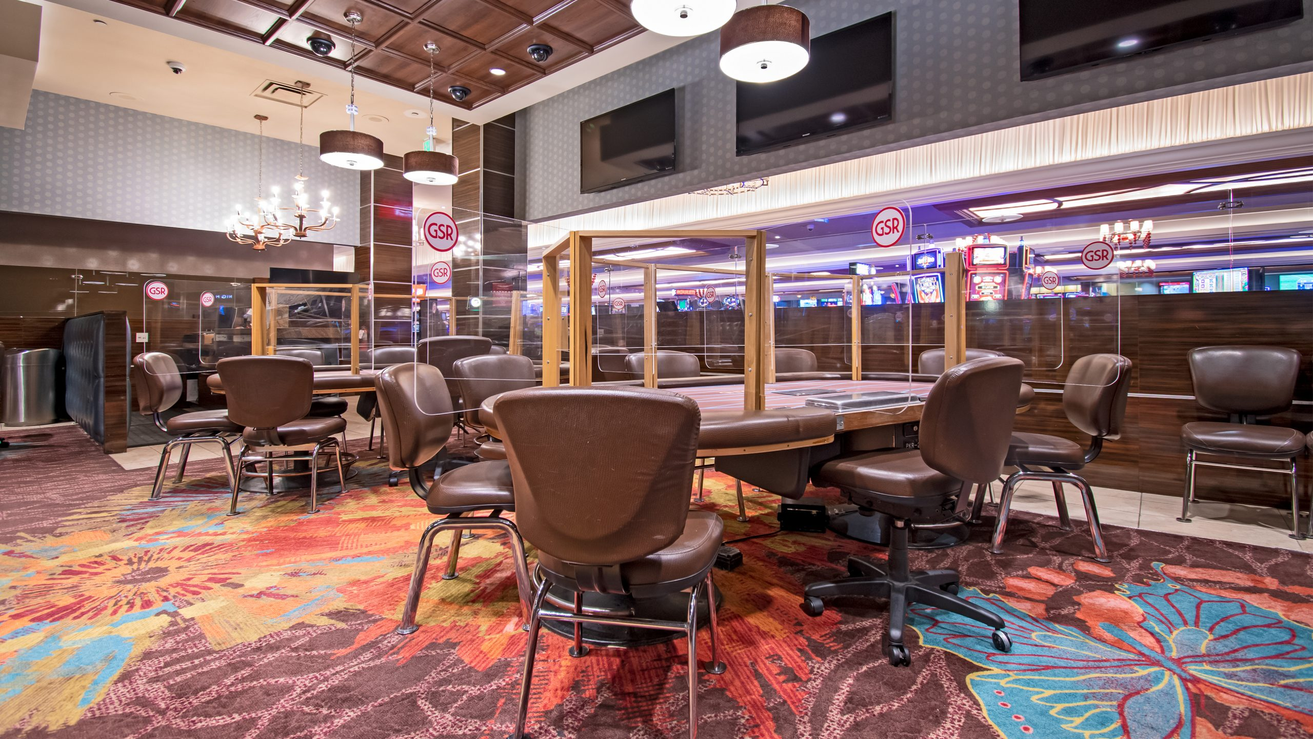 View of Poker Room Looking To Casino