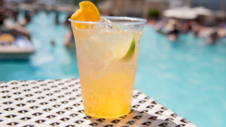 Honey Mango Mule on a hot day at the Pool.