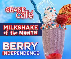 Grand Cafe Berry Independence Milkshake of the Month
